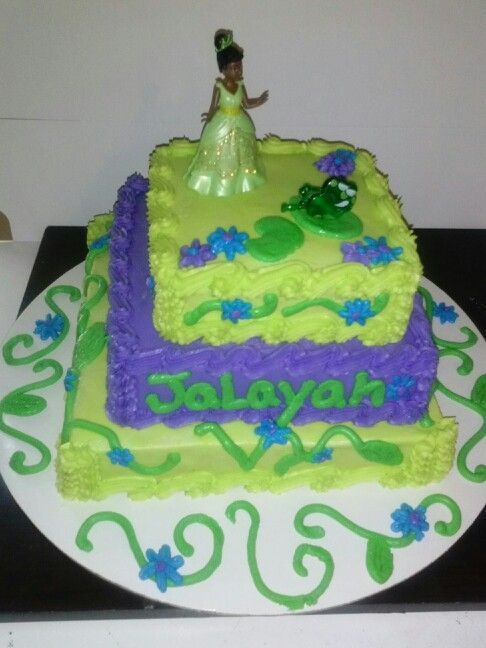 Princess Tiana Birthday Cake I Made For Kids Pinterest
