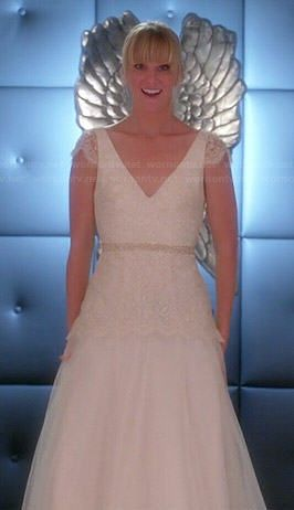 Brittany S Wedding Dress On Glee Dresses Wedding Dresses Lace Gown