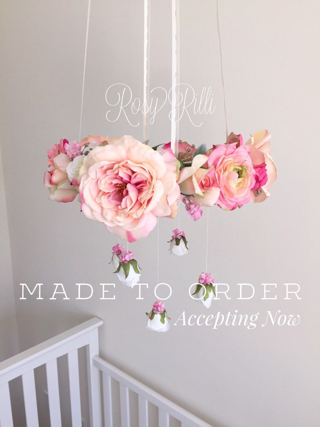 Bright pink and gold nursery flower mobile pink crib mobile pink bright pink and gold nursery flower mobile pink crib mobile pink baby girl mobile pink baby mobile pink floral chandelier arubaitofo Gallery