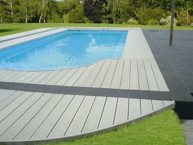 design composite swimming pool floor plastic wood. Black Bedroom Furniture Sets. Home Design Ideas