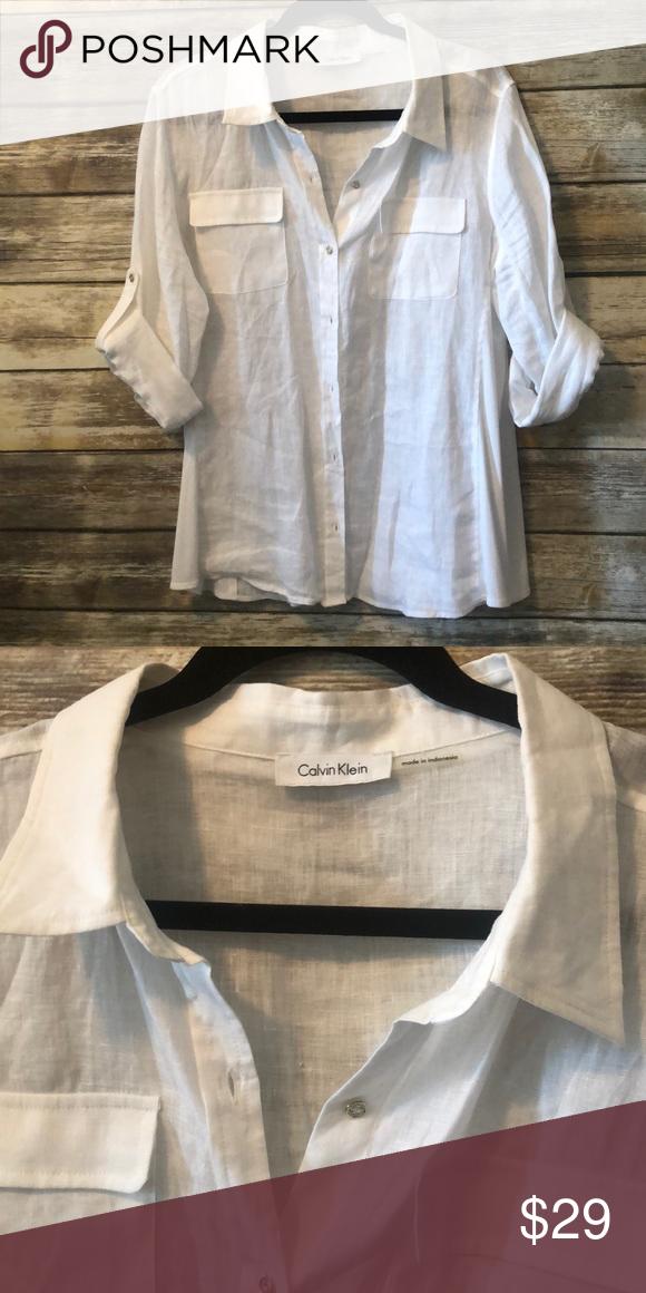 Calvin Klein Linen Shirt Linen Shirt Calvin Klein Shirts