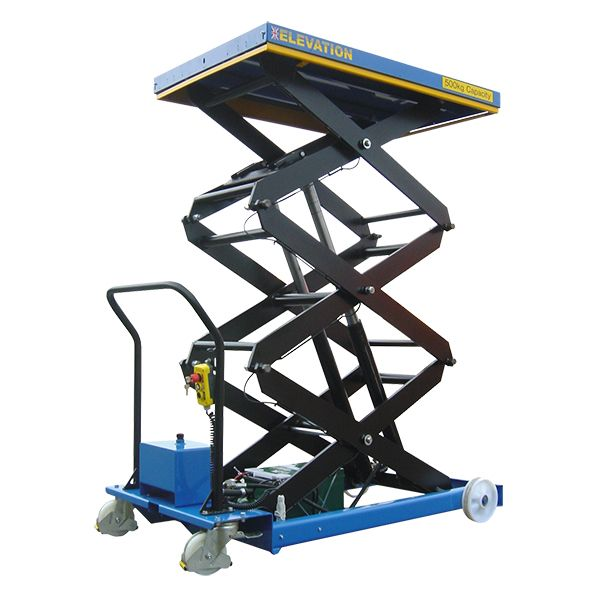 Our SC 500 T E Electric Triple Mobile Scissor Lift Table Is An Easily  Manoeuvrable