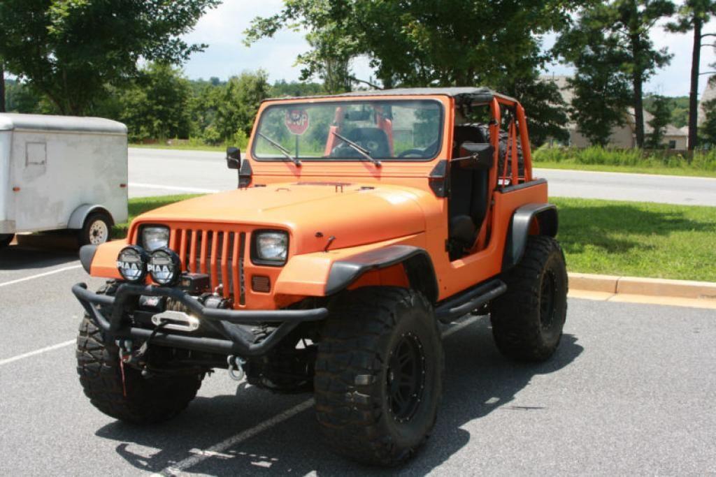 1994 Jeep Wrangler Front Left View Custom Jeep Wrangler Orange