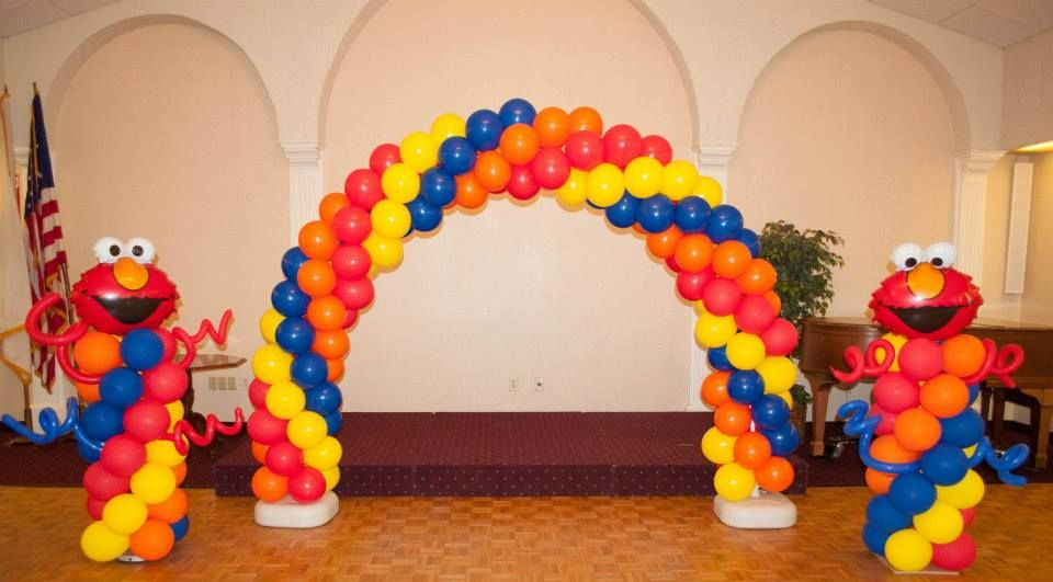 Birthday Balloons column arch Includes below items