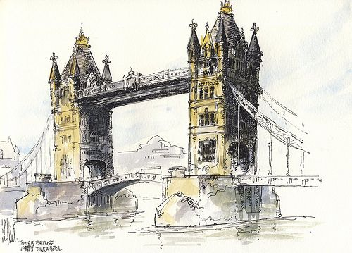 Tower Bridge London Urban Sketching London Painting