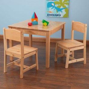 Kindertisch Stuhl nature kidkraft kindertisch stuhl kombination aspen aus holz