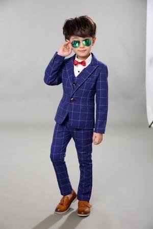 Boys Blackblazer 5 Pcsset Wedding Suits For Boy Formal Dress Suit