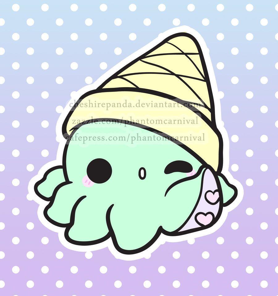 Octi Cream By Phantomcarnival On Deviantart Cute Kawaii Drawings Kawaii Doodles Kawaii Drawings