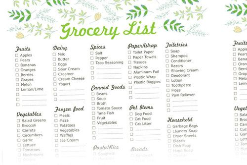 Free Printable Grocery List Templates (+ NEW shop addition!) Food