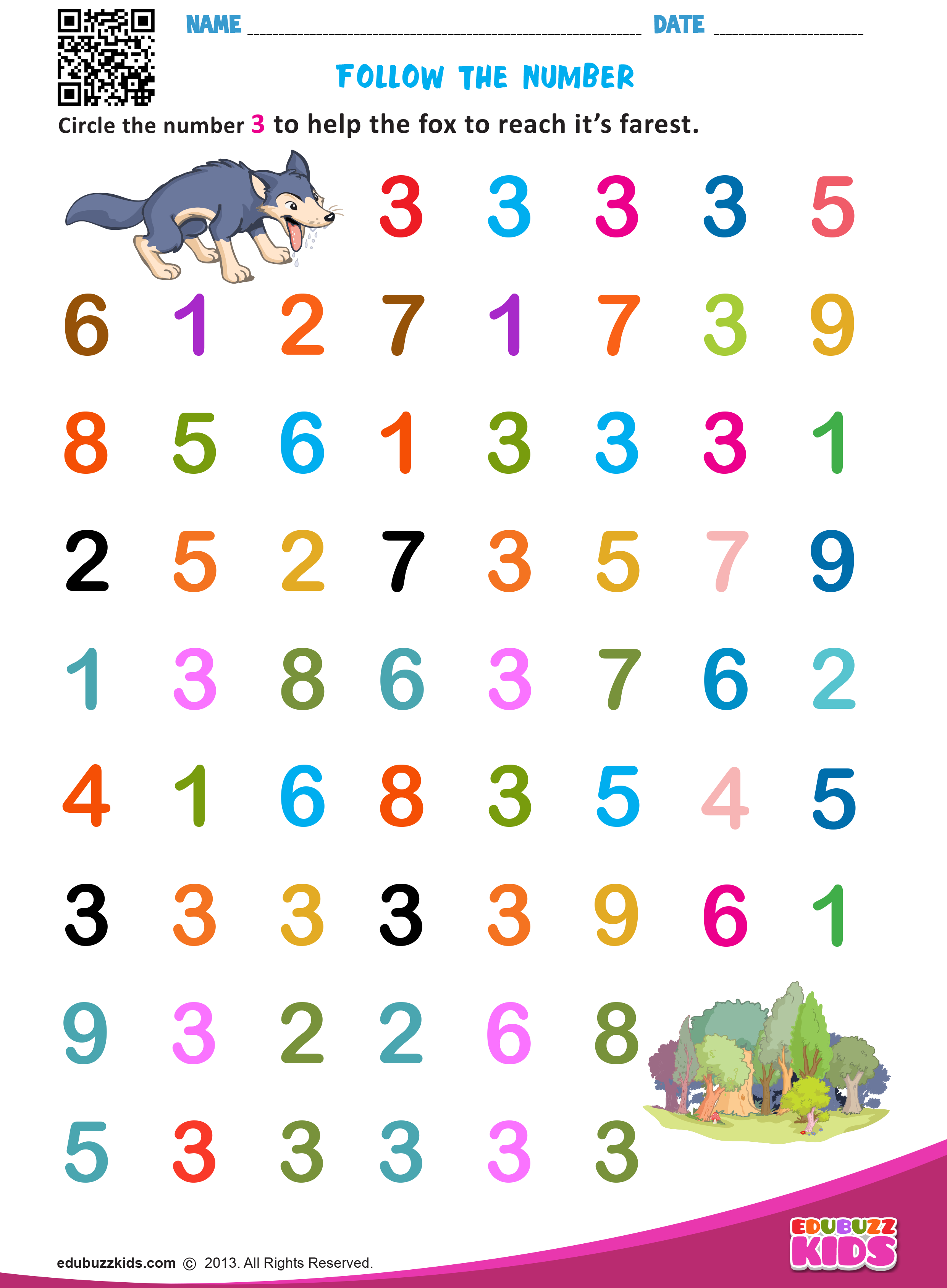 Printable Math Identify Numbers Worksheets For