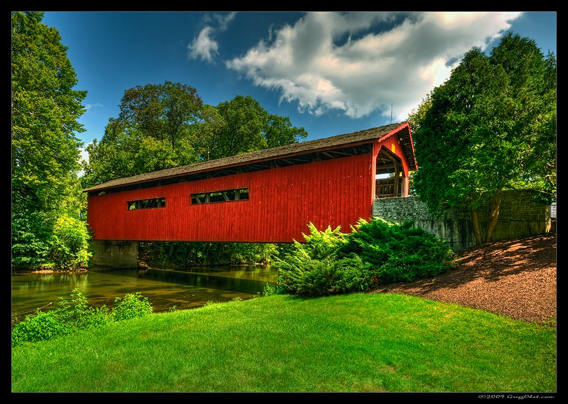 Messiah College Covered Bridge Covered Bridges Amish Country Places