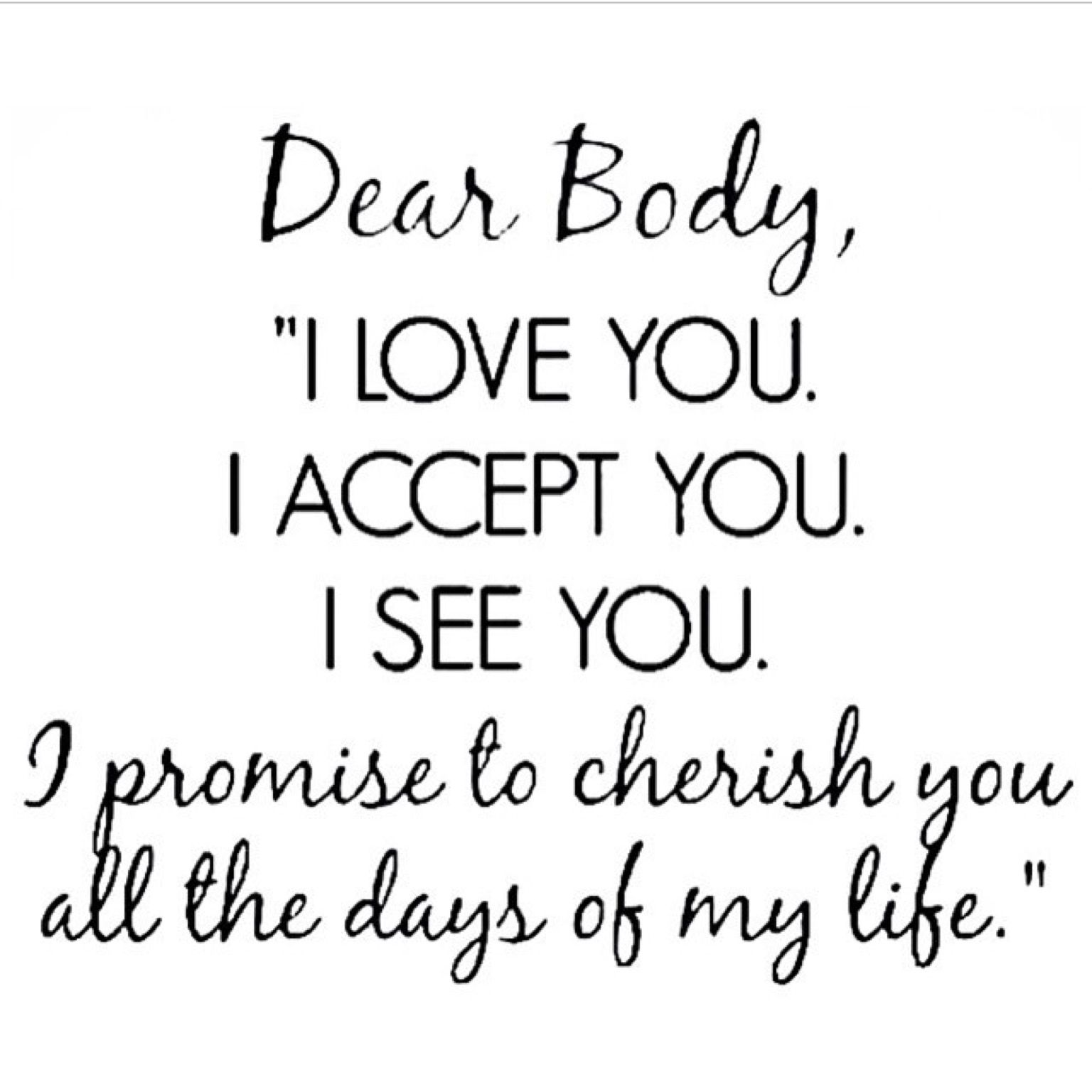 Love your body at any size and treat it with love and care