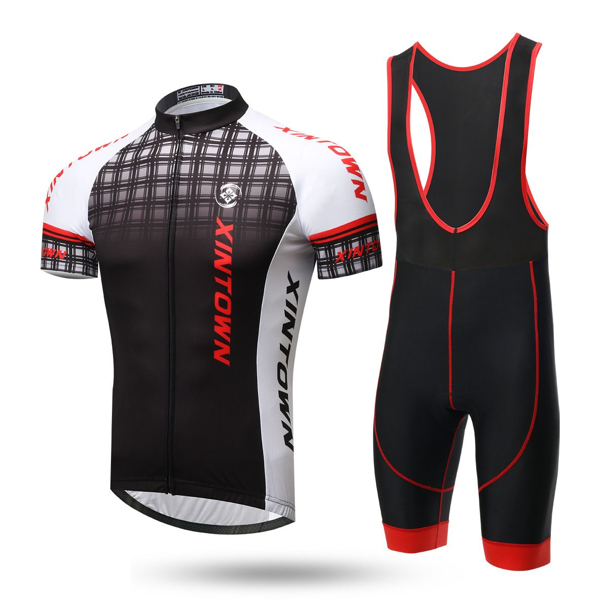 SKYSPER Mens Cycling Jerseys Long Sleeve Cycling Suits with 3D Gel Padded Bib Shorts Pants Trousers Autumn Winter Clothing Outdoor Sportswear Set for Race Bike Bicycle Team