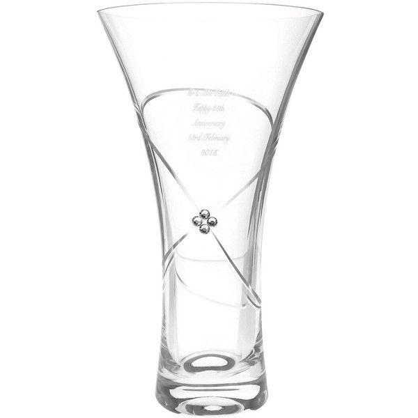 Personalised Small Swarovski Infinity Vase 52 Liked On