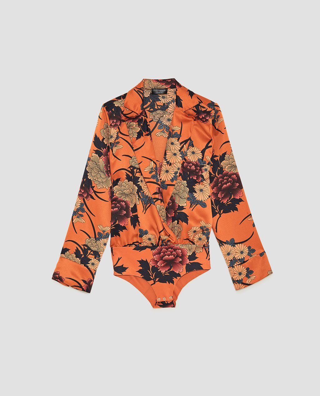 Image 8 of PRINTED SATEEN BODYSUIT from Zara  ad3bd24acb1