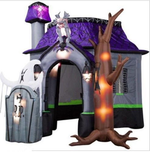 10ft+NewStyle+Halloween+Inflatable+Haunted+House+with+Led+Lights+ - lowes halloween inflatables
