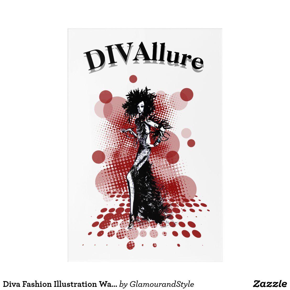 Diva Fashion Illustration Wall Art Zazzle Com Illustration Wall Art Illustration Wall Fashion Illustration