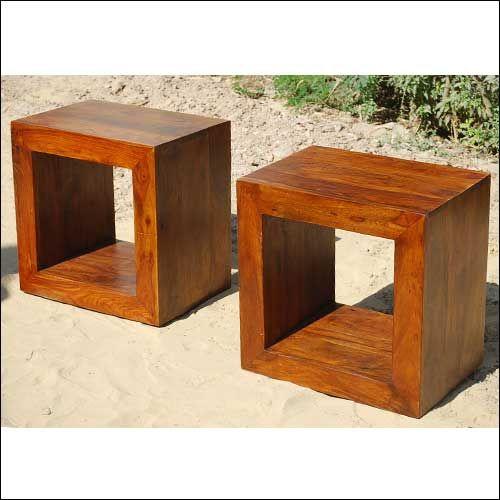 1x Solid Wood Block Coffee Table Book Shelf Bed Side Table Set Decoracion Moderna Decoracion De Unas Articulos De Decoracion