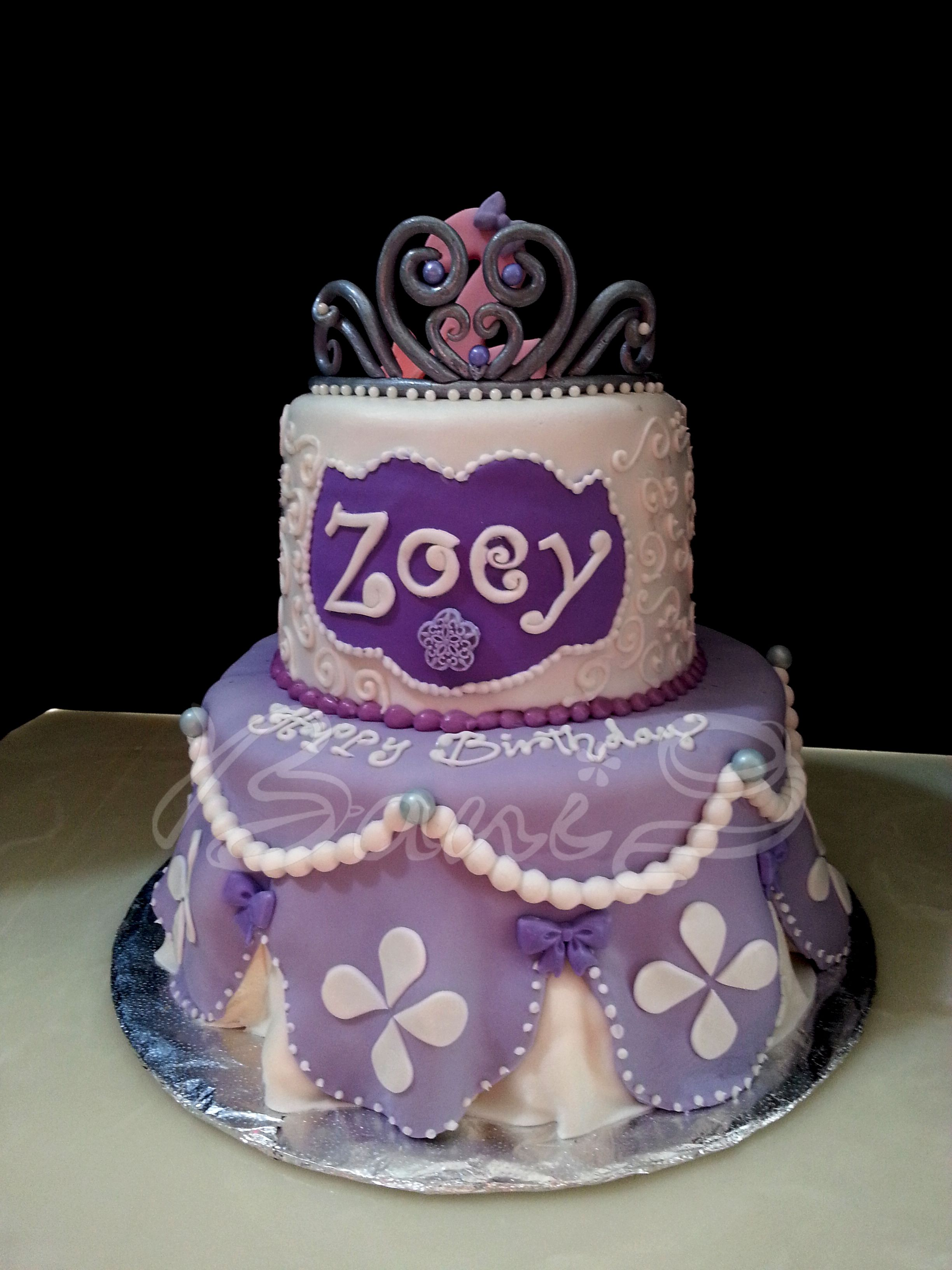 Sophia the 1st theme cake 2nd birthday cake tiaradisney princess