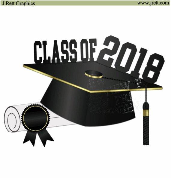 Graduation gold. Class of clipart more