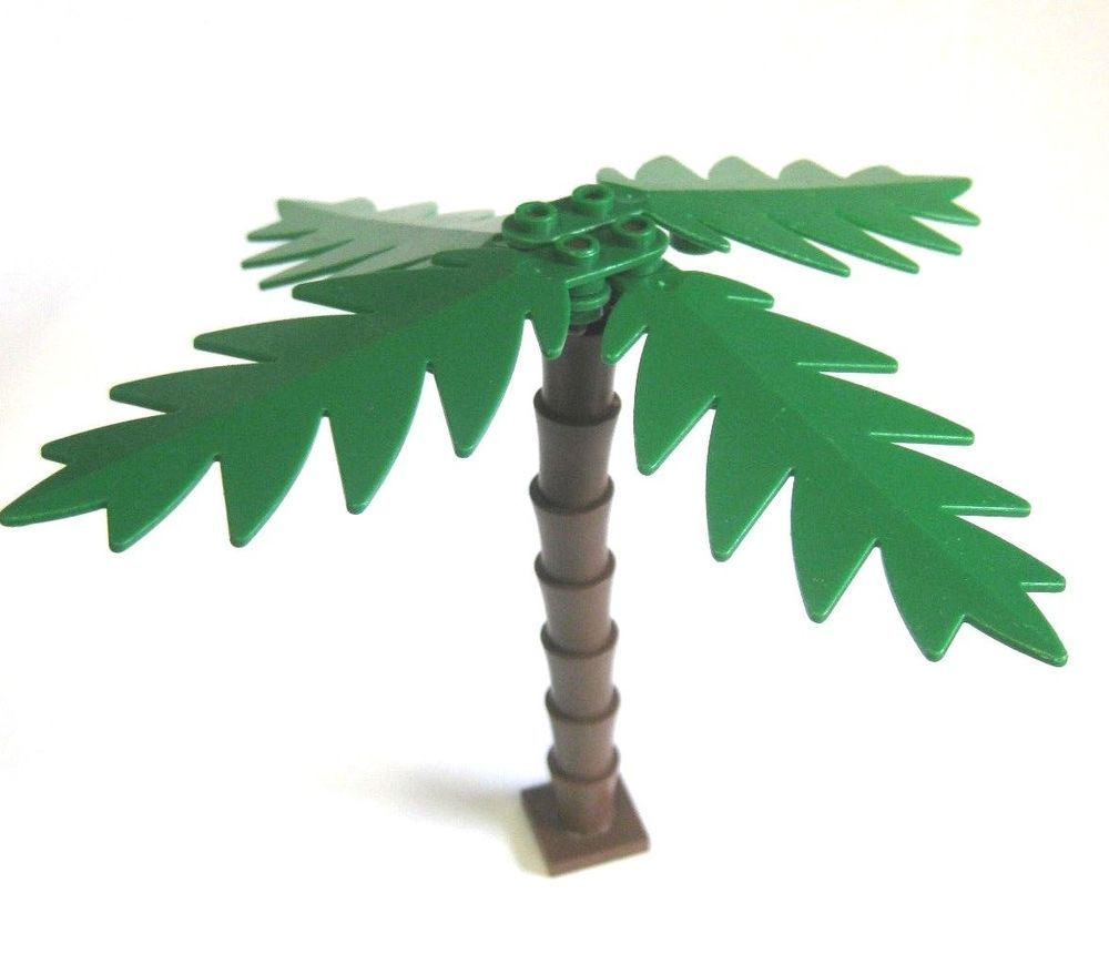 green and brown sword leaves LEGO custom forest palm tree new parts FREE ship!