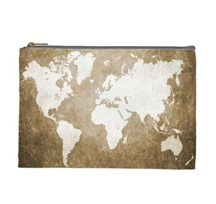 Cosmetics bag pouch purse accessory design 56 brown sepia world map cosmetics bag pouch purse accessory design 56 brown sepia world map art ldumas gumiabroncs Choice Image