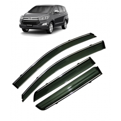 Car Window Door Visor With Chrome Line For Toyota Innova Crysta Set Of 6 In 2020 Toyota Innova Must Have Car Accessories Car
