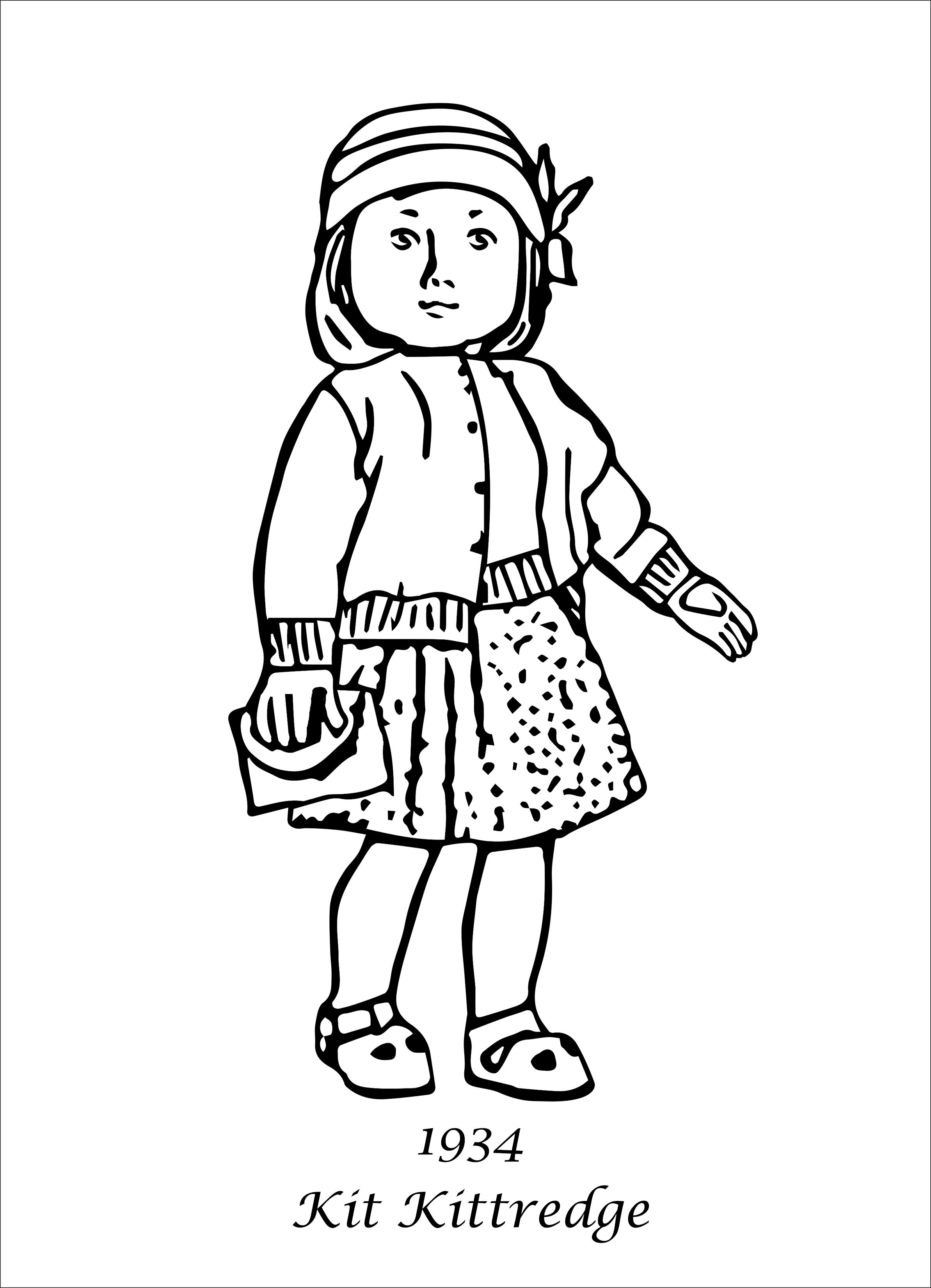 American Girl Coloring Pages Coloring Pages For Girls Kit