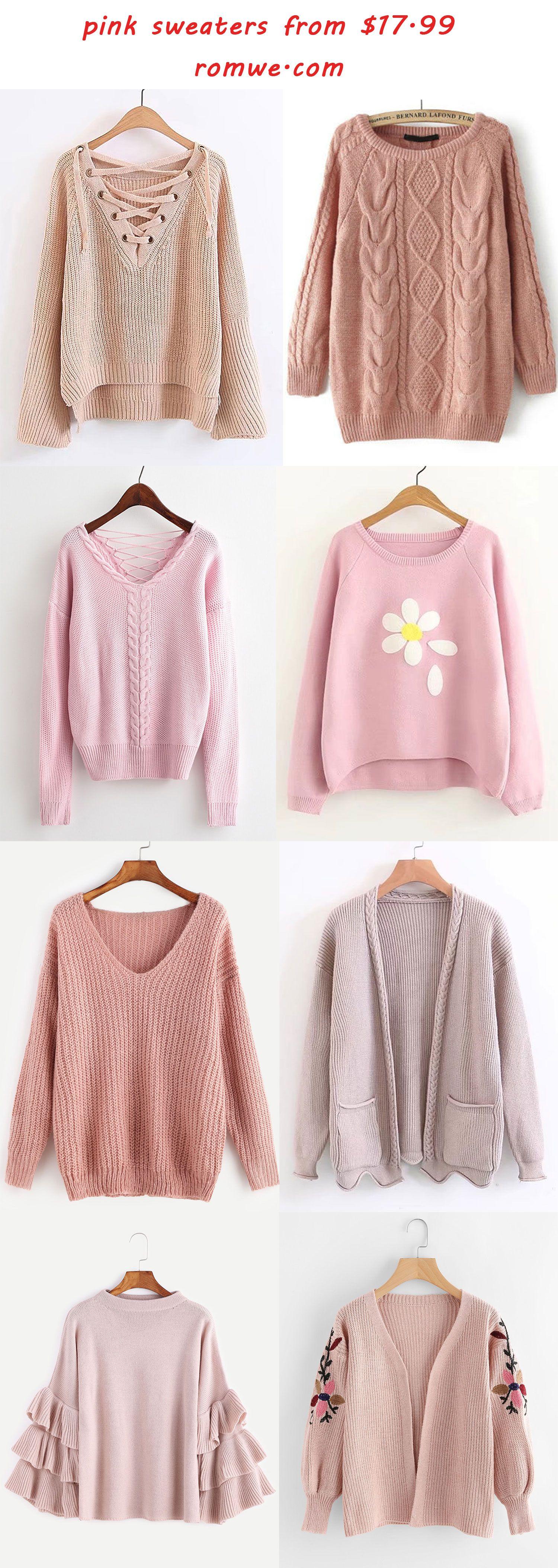 chic & cozy pink sweaters - romwe.com | Romwe Hot Buy | Pinterest ...