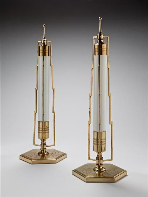 A Pair Of Art Deco Table Lamps America Circa 1930 London