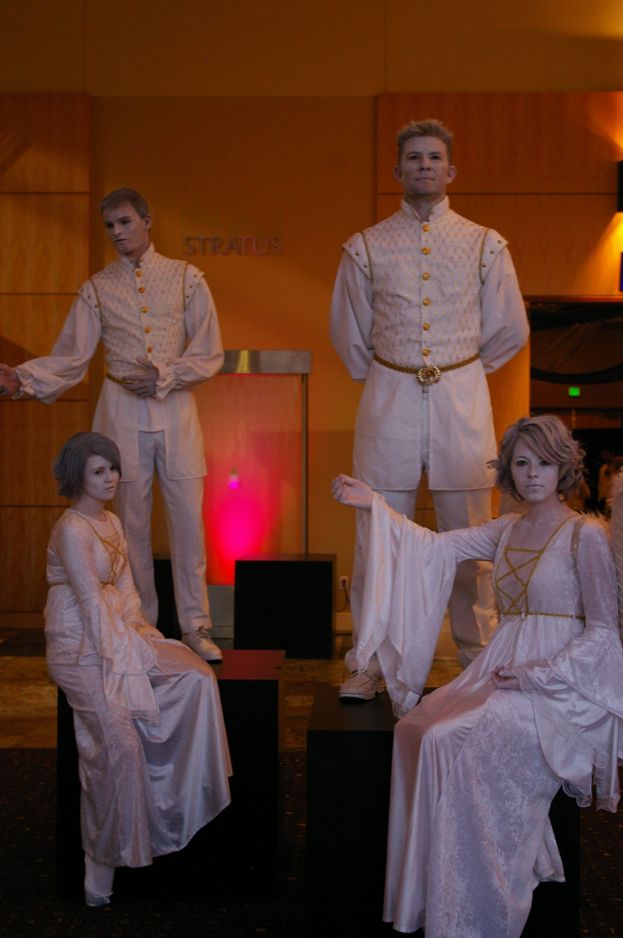 ( Living Statues) Water Based Make Up with White Hair Spray