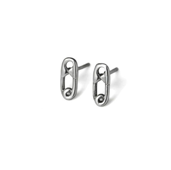 Specifications Sterling Silver Post With Erfly Backings Pierced Earrings Safety Pin Stud Pieces From The Evyral Collection