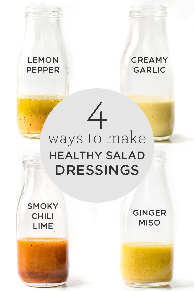 Healthy Salad Dressing: 4 Different Ways - Simply Quinoa  Looking for an easy way to jazz up your b