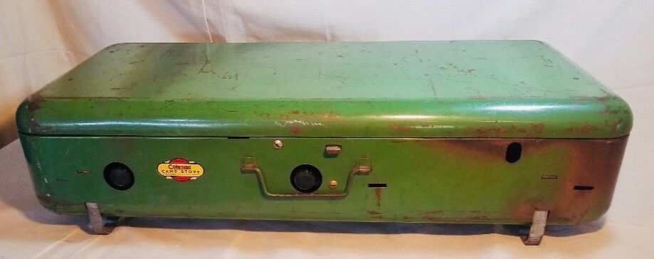 1941 Vintage Coleman Model 420 3-Burner Camp Stove and Stand