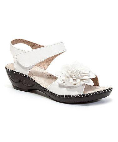 472166581289 Love this White Flower Titi Sandal on  zulily!  zulilyfinds