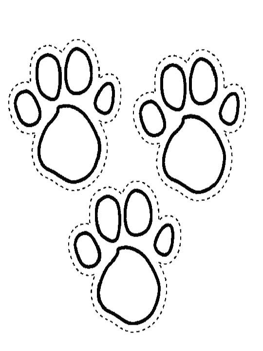 The Soles Of The Feet Of Blues Clues The Dog Coloring Pages