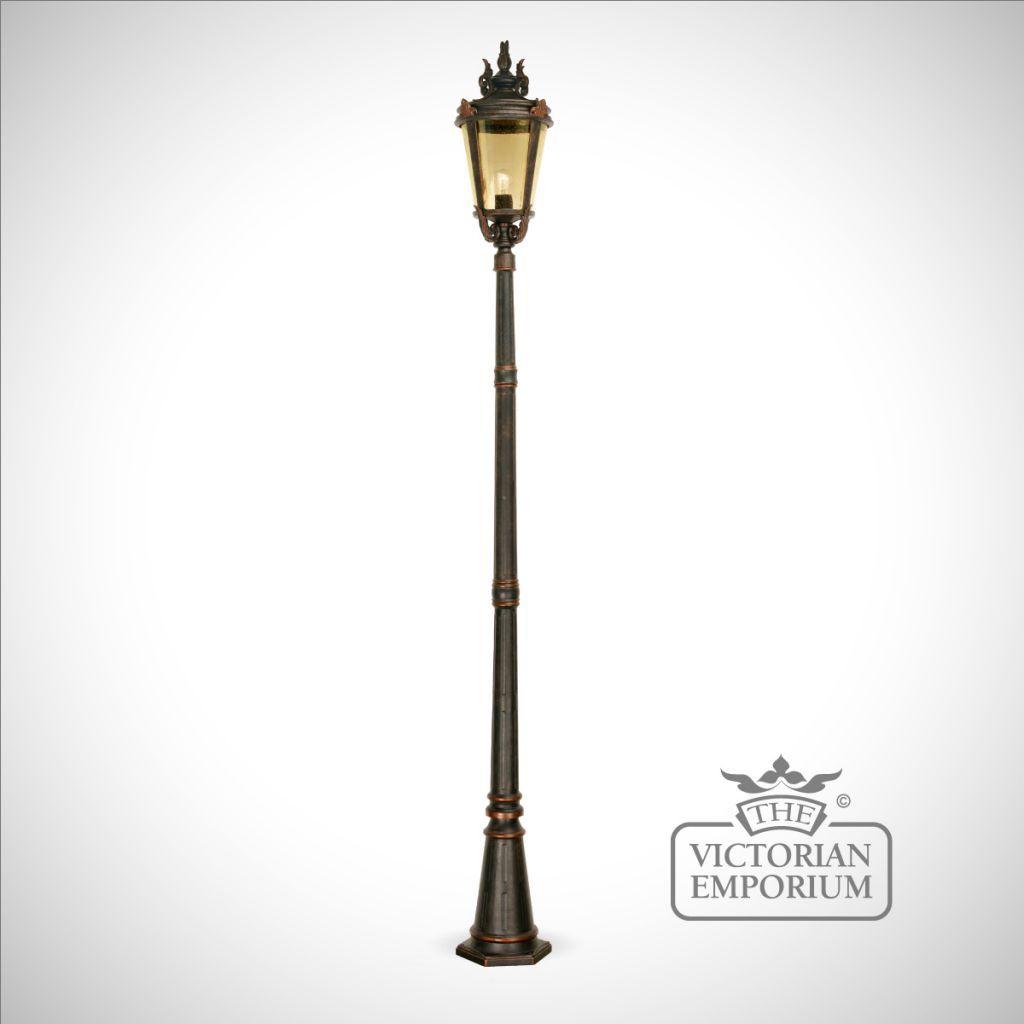Simplistic Victorian Entrance Pillar Light: Buy Dark Bronze Pedestal Lantern With Lamp Post, Lamp