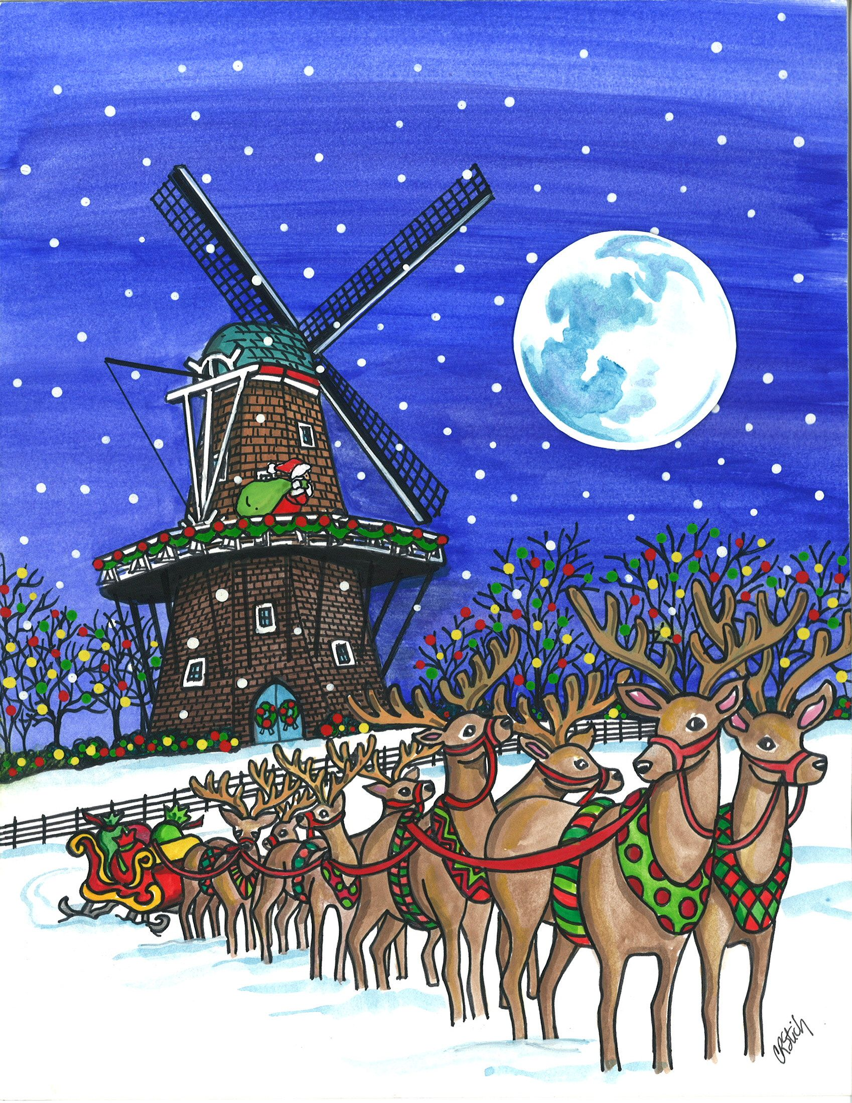 The Is The Official Holland Mi Christmas Card By Carolyn Stitch