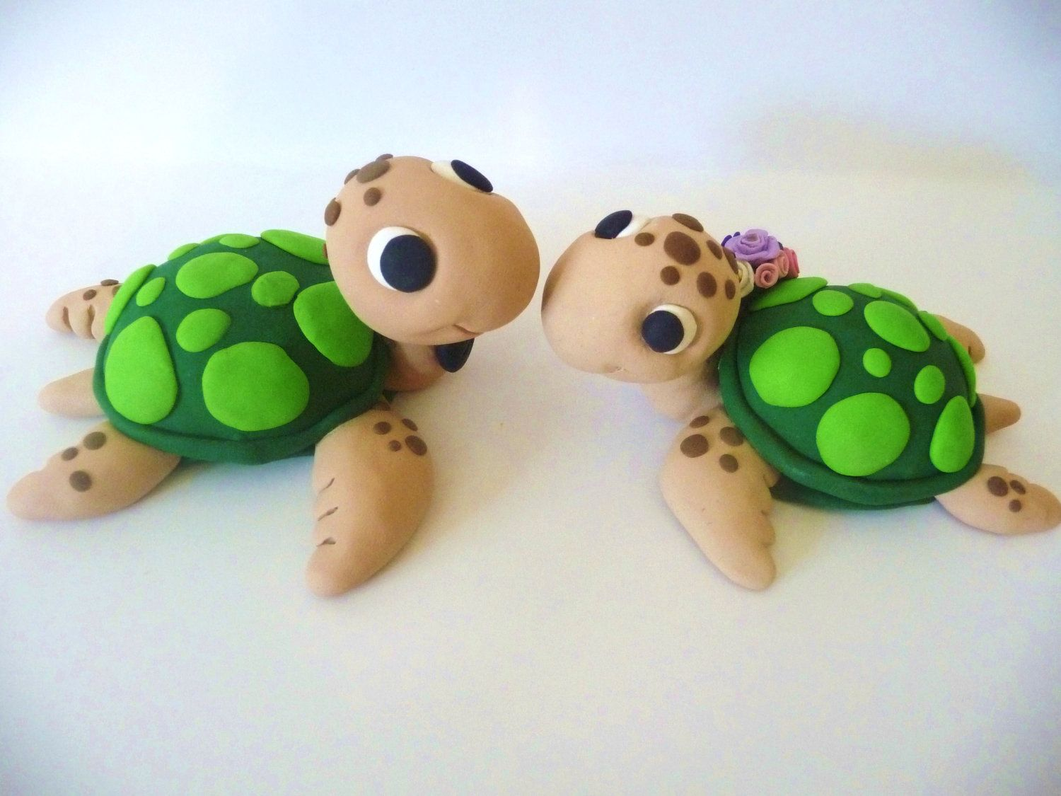 Sea Turtles Wedding Cake Topper - Choose Your Colors | Turtle ...