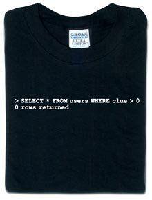 SQL query ThinkGeek, http://www.amazon.com/gp/product/B0001TPCVM/ref=cm_sw_r_pi_alp_s3TXpb0M0BYZ9