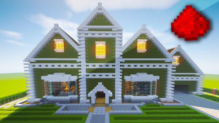 Realistic Redstone House Traditional Mansion Minecraft Project Minecraft Projects Minecraft House Designs Minecraft Houses Survival