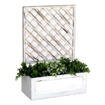 Jardinera madera con celos a decoraci n pinterest patios - Celosia con jardinera ...