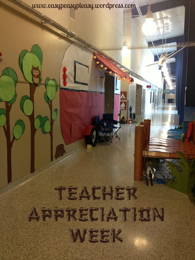Camping Classroom Door Decoration ~ How to show teacher appreciation in a big way camping