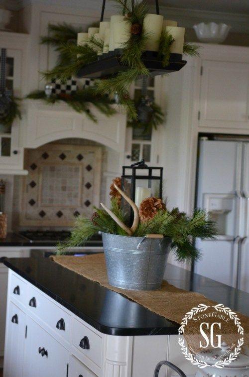 Christmas Farmhouse Kitchen Christmas Decorating Kitchen