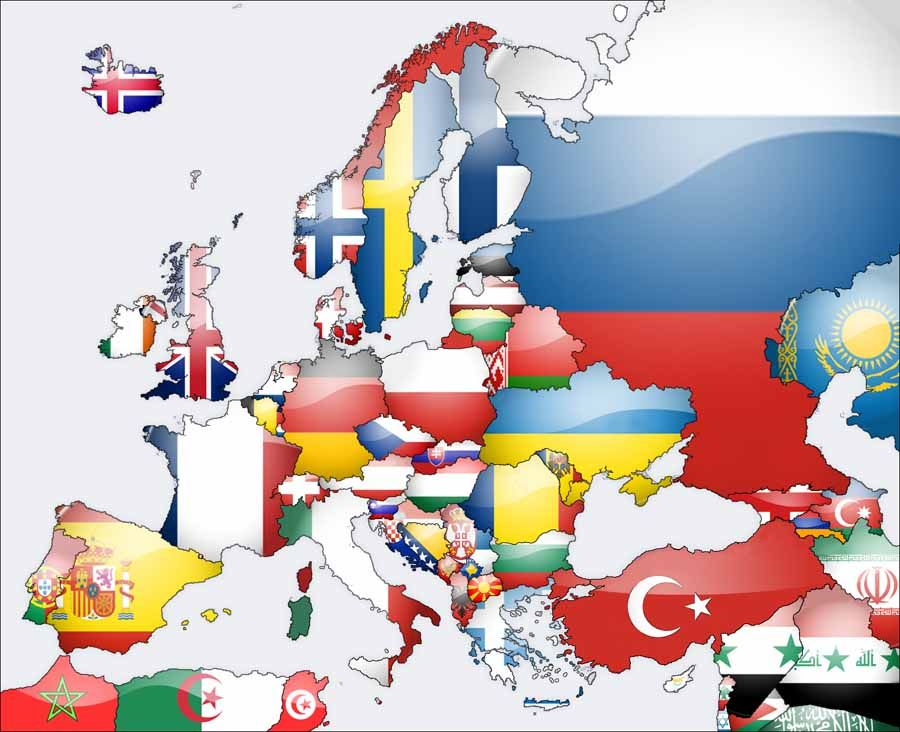 continent of europe flags europe continent hd all european