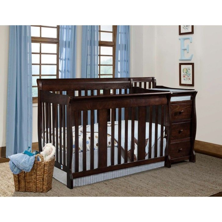 Nursery Rooms Traditional Look Storkcraft Portofino Dark Wood Crib