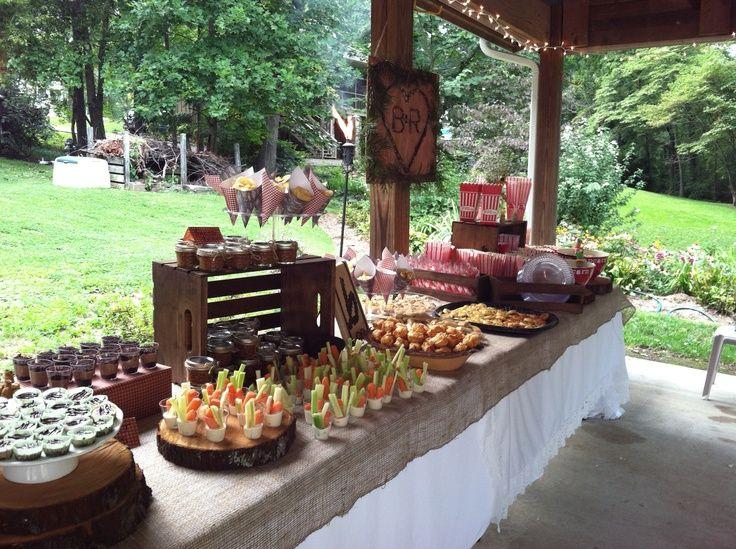 Gorgeous Outdoor Wedding Showers Backyard Bbq Wedding Reception