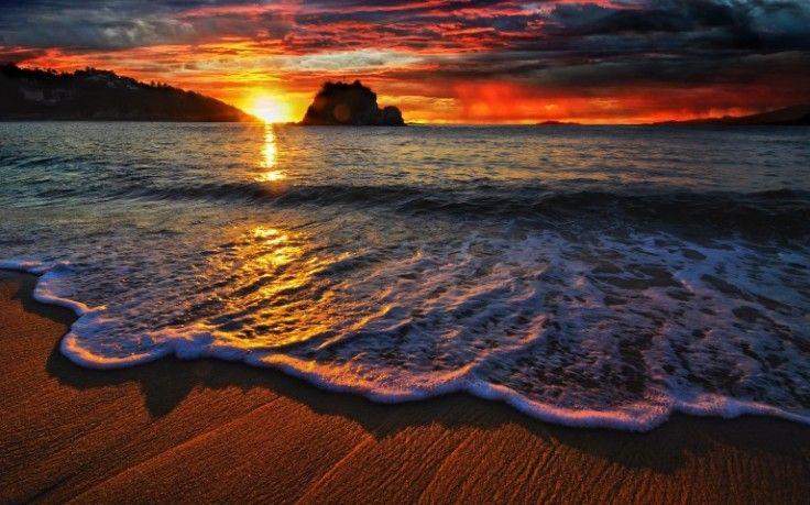 Beach Waves Sunset Wide High Definition Wallpaper Download Ocean Sunset Photos Free Amazi Beach Sunset Wallpaper Sunset Wallpaper Sunset Background