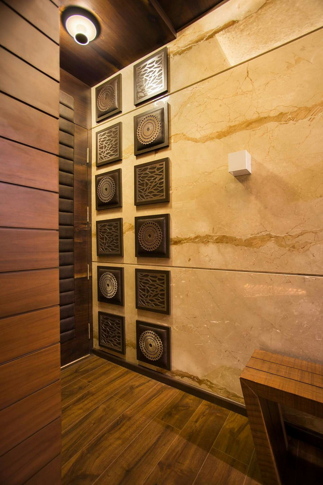 Leather And Ss Design On Wall Design By Raza Decor