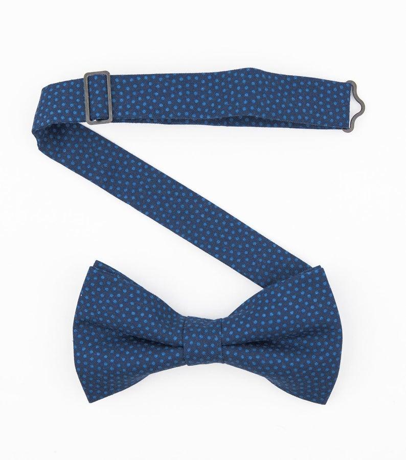 Navy Dots Bow Tie Nautical Ready To Wear Bow Tie Dark Blue Bowtie Cotton Bow Tie Summer Wedding Ties Suspenders Wedding Summer Wedding Photos